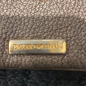 Emporio Armani Bags - Emporio Armani gold wristlet